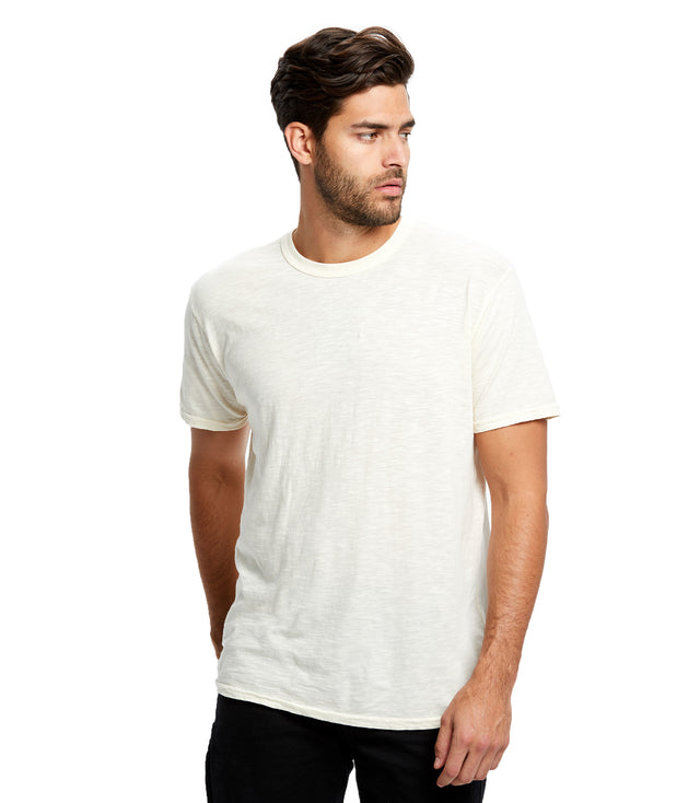 Men's Short Sleeve Slub Crew - Garment Dyed