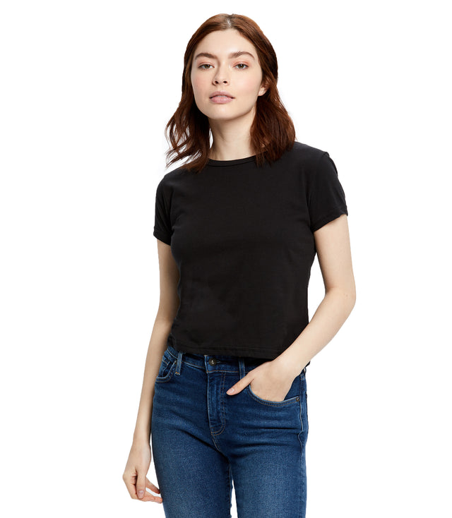 Women's Short Sleeve Crop Crew Tee