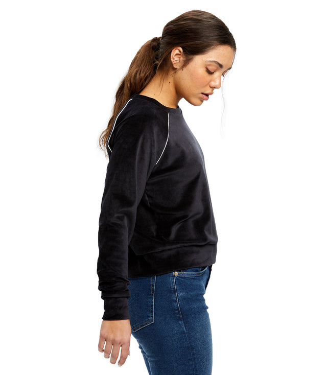 Women's Velour Crop Long Sleeve