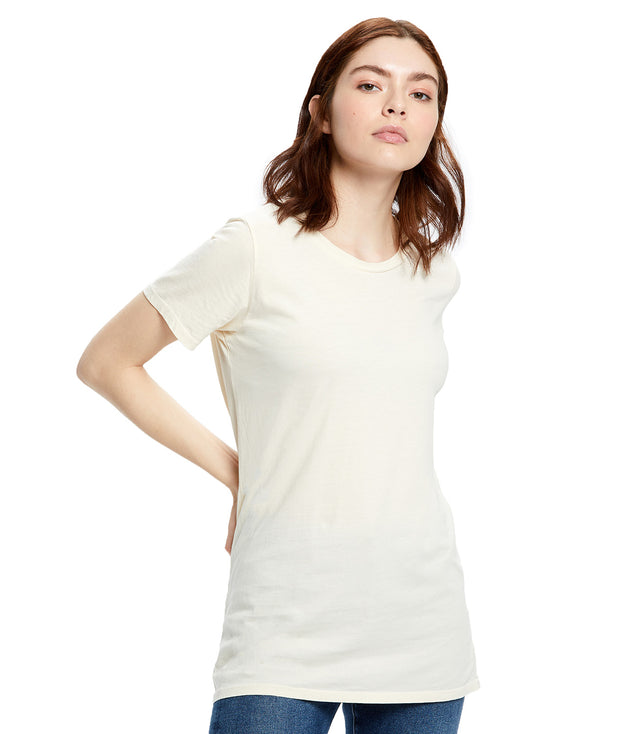 Women's Short Sleeve Jersey Crew - Garment Dyed