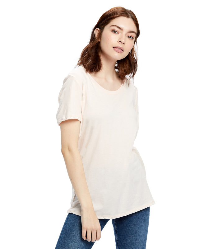 Women's Short Sleeve Loose Fit Boyfriend Tee - Garment Dyed
