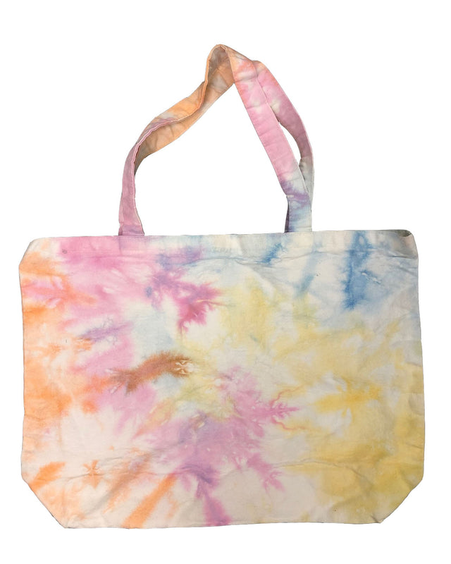 Large Canvas Tie Dye Swirl Shopper