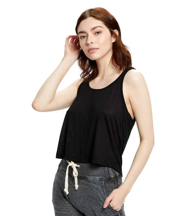 Women's Sheer Cropped Racer Tank