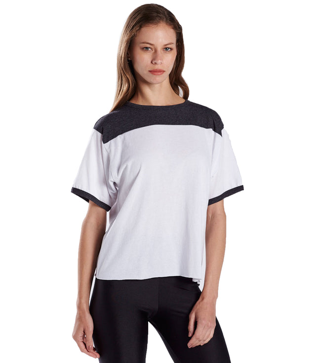 Women's Boxy Yoke Recycled Tee