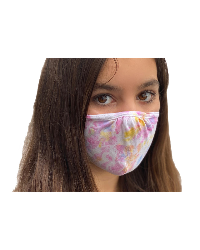 Tie Dye Marble Double Layer Adjustable Face Mask