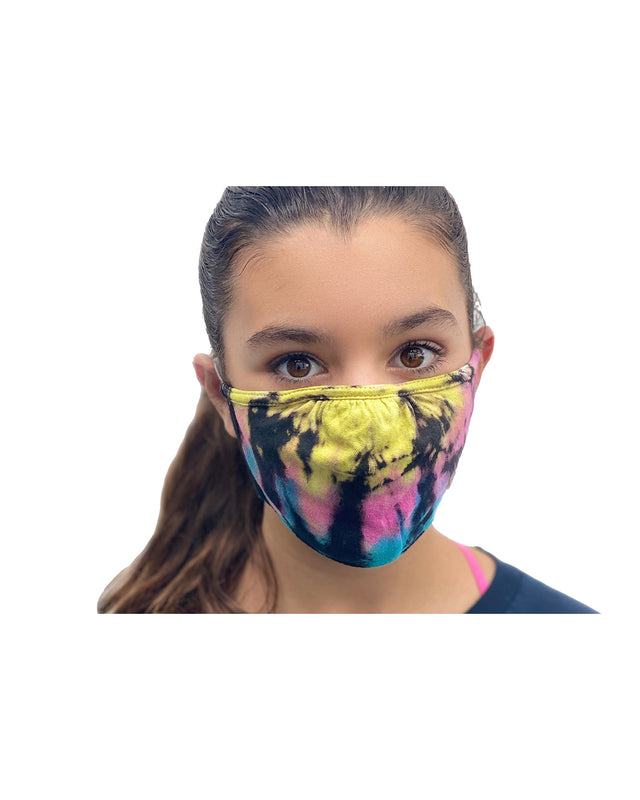 Tie Dye Ripple Double Layer Adjustable Face Mask