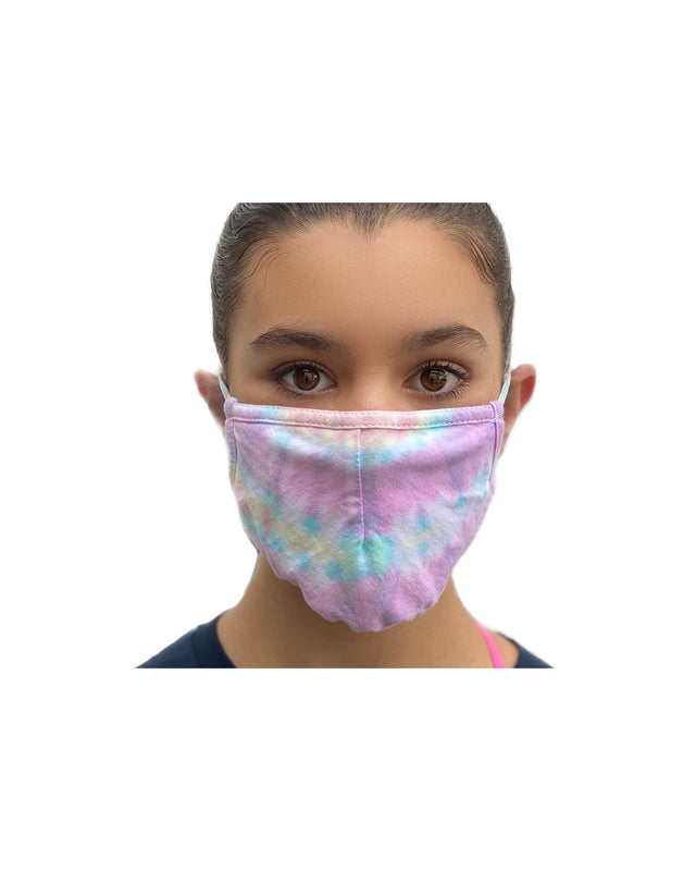 Tie Dye Sherbet Double Layer Adjustable Face Mask