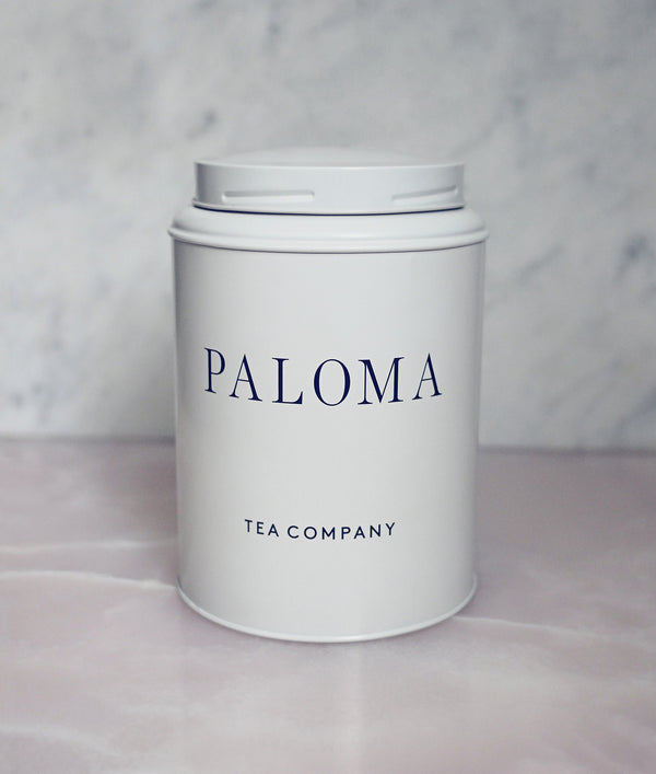 Paloma Tea tin - Papyrus snow