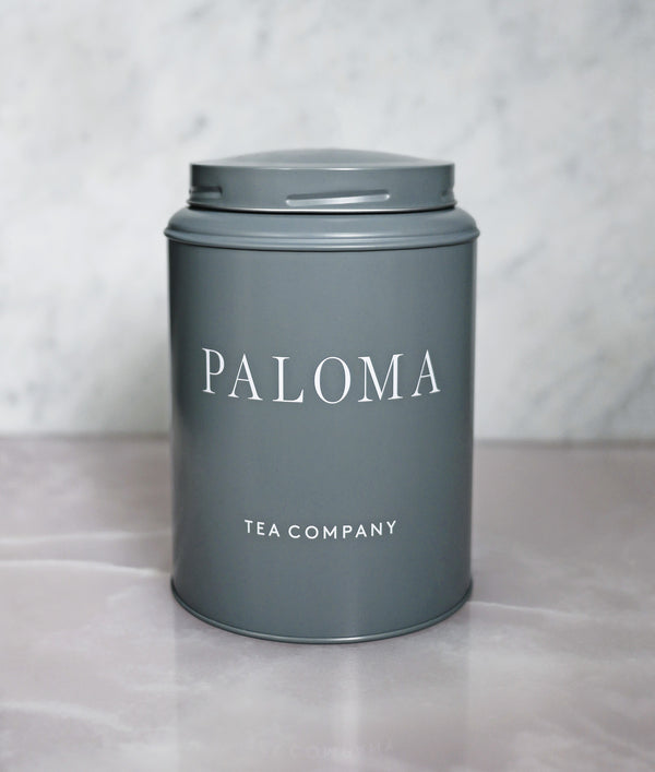 Paloma Large Tea tin - Grey Pearl