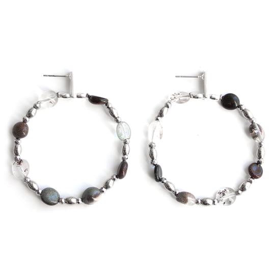 Opium Beaded Hoops