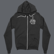 Load image into Gallery viewer, ROSE ZIP-UP HOODIE (BACK PRINT)