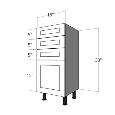 BDF-3SL-15 Four Drawer Set for 15