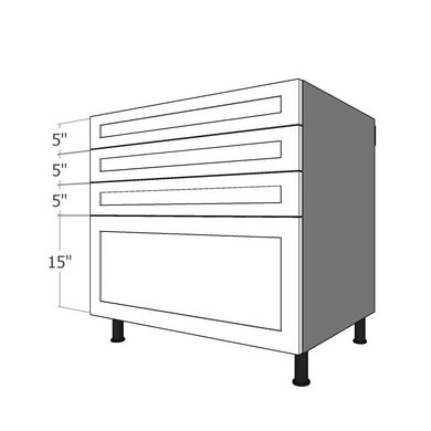 BDF-3SL-36 Four Drawer Set for 36
