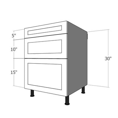 BDF-SML-24 Three Drawer Set for 24