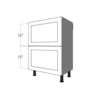 "BDF-2L-30 Two Drawer Set for 30""W IKEA Sektion Base Cabinet"