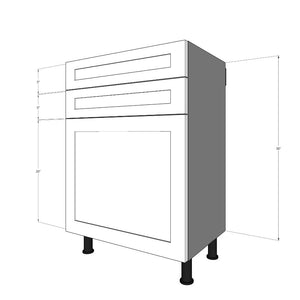 "BDF-2S1D-24 Two 5""H Drawers and One 20"" Door for 24""W IKEA Sektion Base Cabinet"