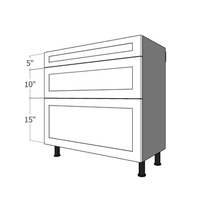 BDF-SML-36 Three Drawer Set for 36