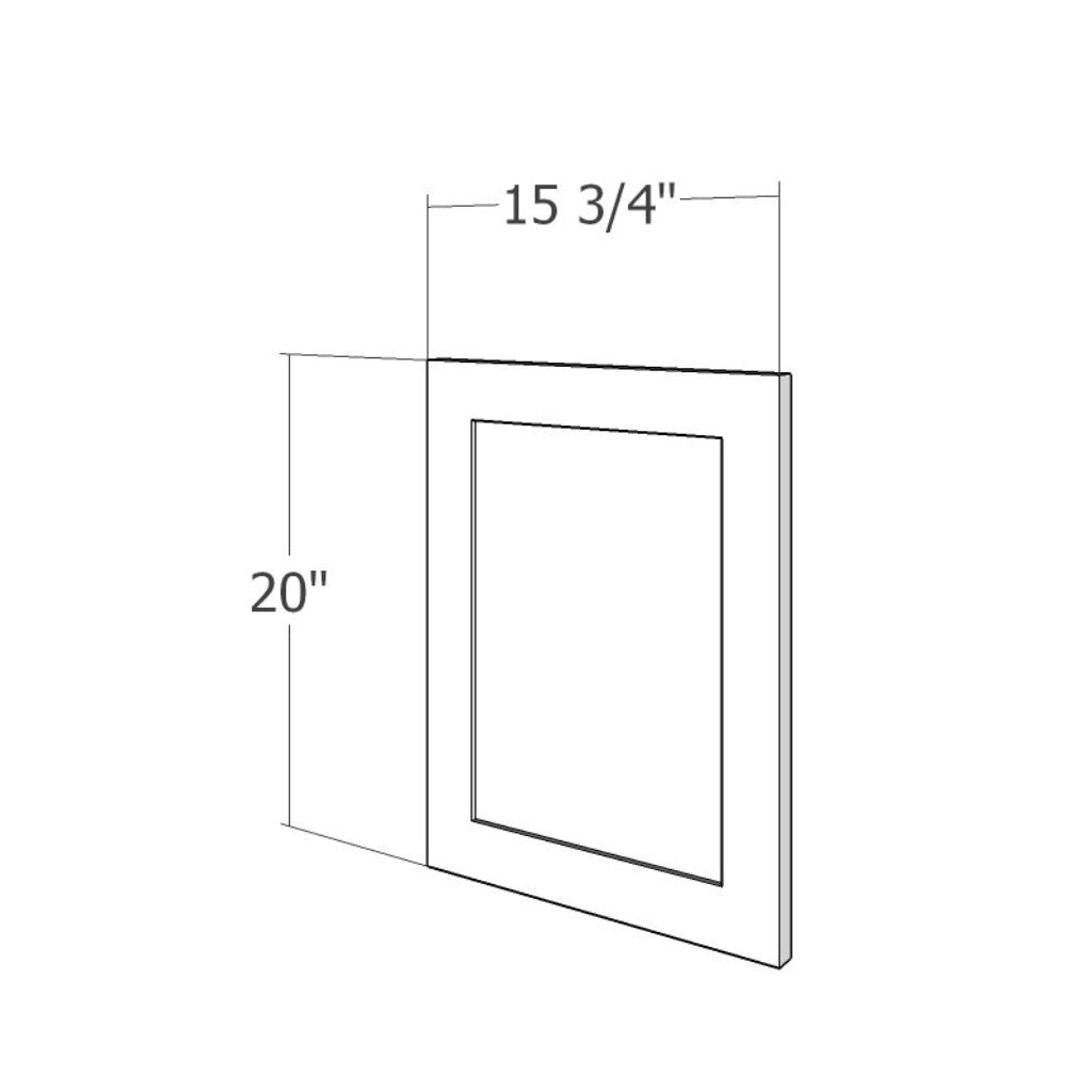 PNL-DD-1520 Upper End Panel (DOOR DESIGN) 15 3/4