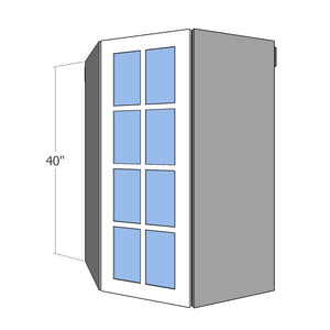 "WCG-1D-1540 One 15"" Wide Door for Glass IKEA Sektion 40""H Wall Corner Cabinet"