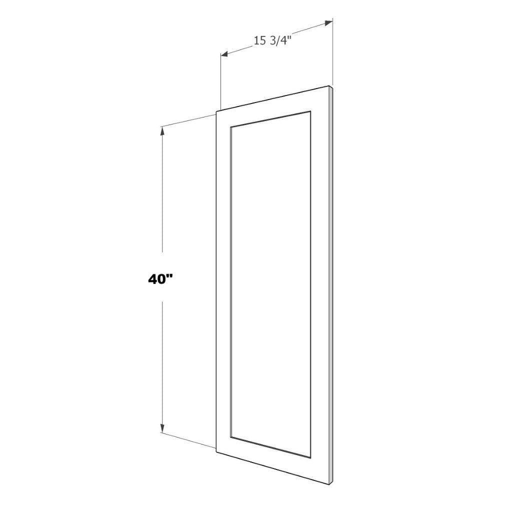 PNL-DD-1540 Upper End Panel (DOOR DESIGN) 15 3/4