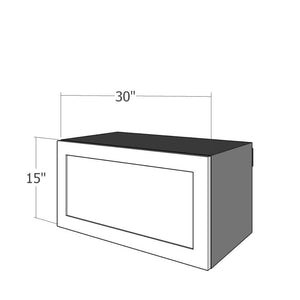 "WFU-3015 One 30""W Flip Up Door for 30""W IKEA Sektion 15""H Wall Cabinet"