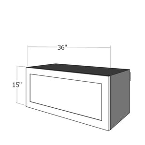"WFU-3615 One 36""W Flip Up Door for 36""W IKEA Sektion 15""H Wall Cabinet"