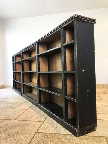 Run of Ebonised Victorian Bookcases