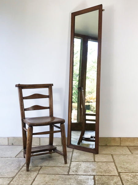 Ex-Department Store Full Length Oak Mirror