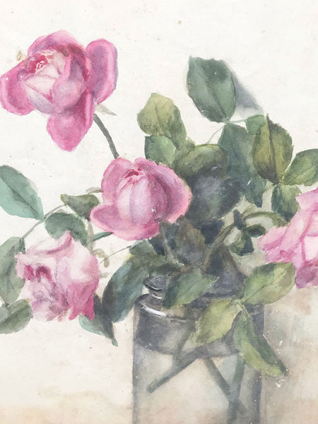 Watercolour of a collection of Roses
