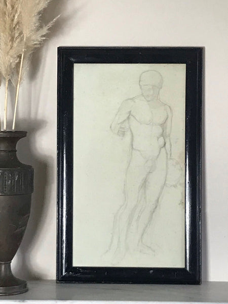Large Victorian Nude Male by Dora Bard