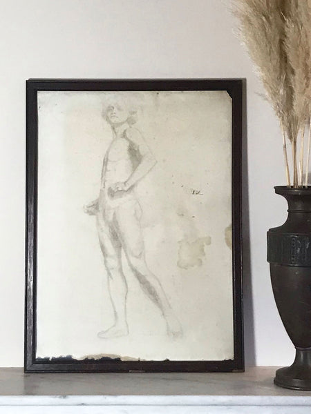 Original Pencil Drawings of a Male Nude