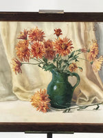 Victorian Chrysanthemums Watercolour by Dora Bard