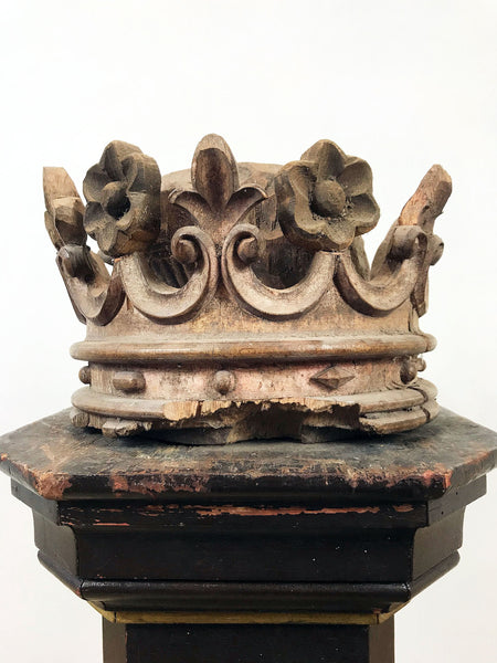Hand Carved Wooden Crown