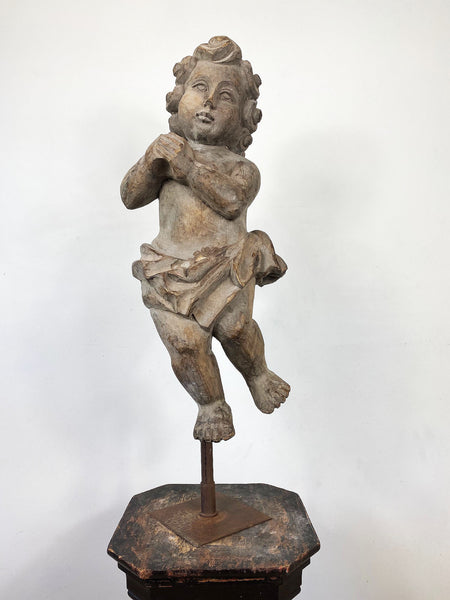 Large Wooden Putto