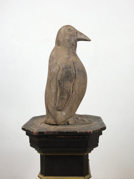 Hand Carved Wooden Penguin