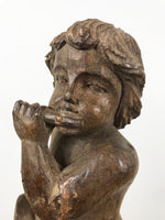 Hand Carved Wooden Putto