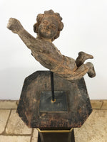 Hand Carved Wooden Putti