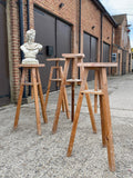Ex-Tall Wooden Sculptors Modelling Stands