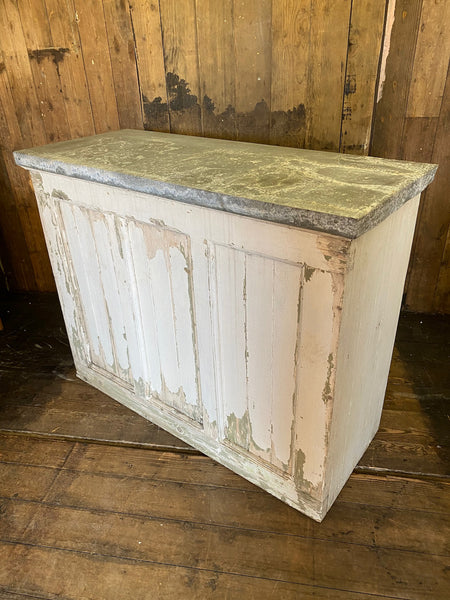 Vintage Shop Counter with Zinc Top