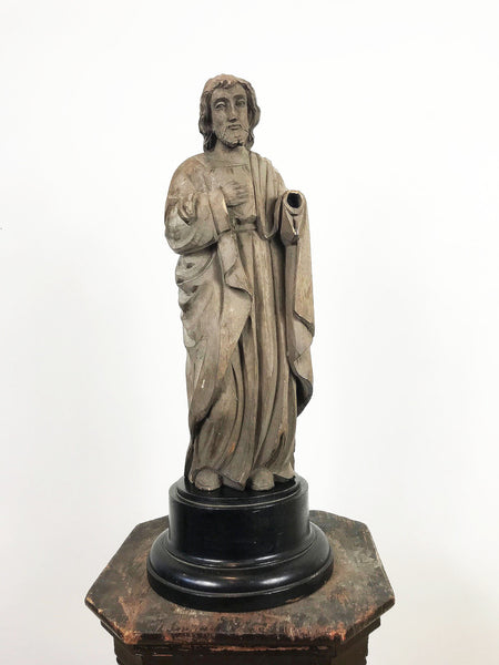 Hand Carved Wooden Religious Statue