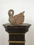 Hand Carved Wooden Swan