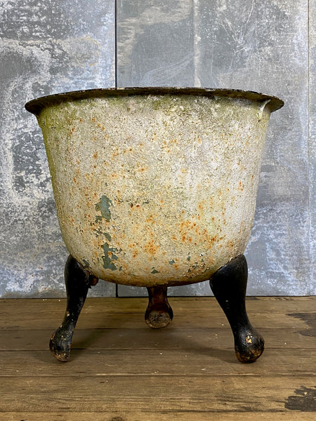 Large Antique Cast Iron Planter on Legs