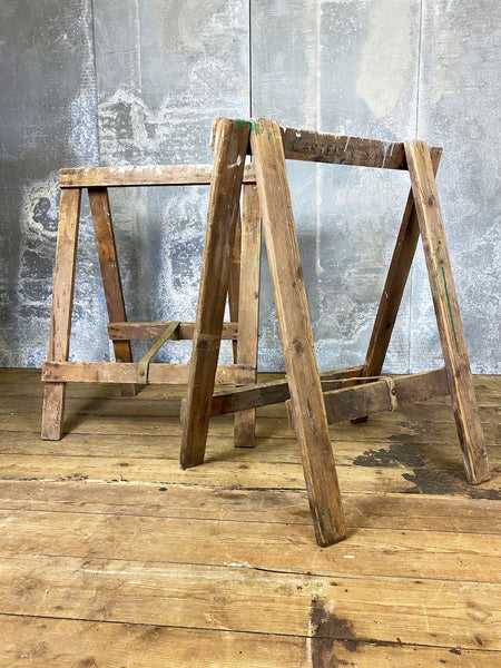 Vintage Pair of Trestle Legs