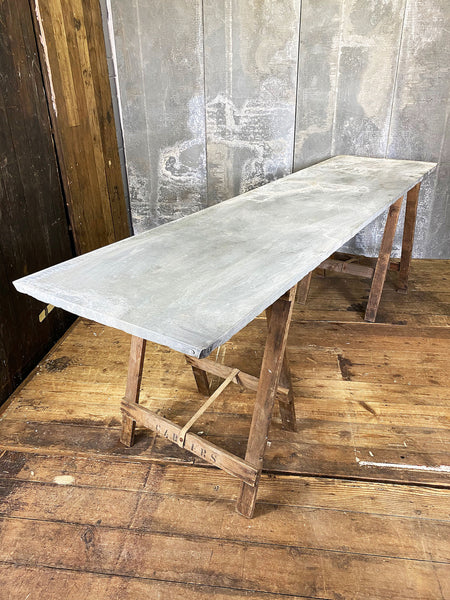 Zinc Top Trestle Tables