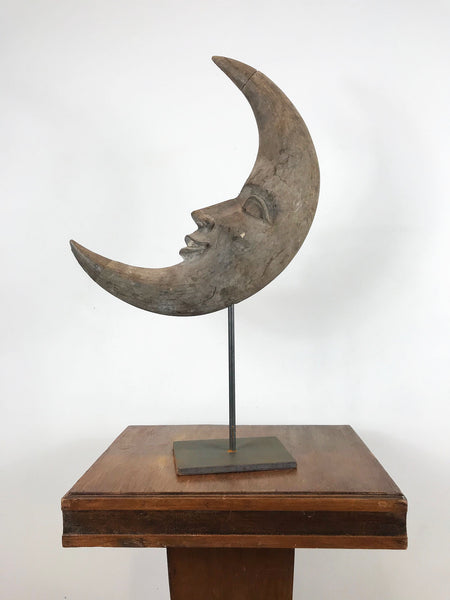 Hand Carved Man in the Moon