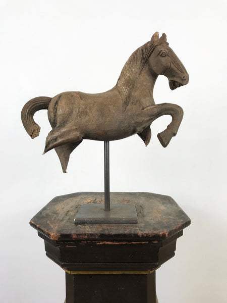 Wooden Horse on Stand