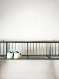 Hanging School Bench with Shoe Rack