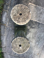 Pair of Weathered Stone Plinths Pillars