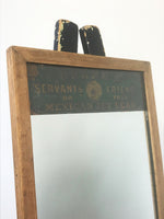 Decorative Antiques - Early 19th century advertising mirror by Crane's Servant Friend or Mexican Jet Lead, London. Circa: 1920's