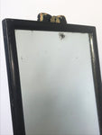 Decorative Antiques - Ebonised outfitters mirror. Patches of ageing to mirror plate. Original brass fixture hook.  Circa: 1920's